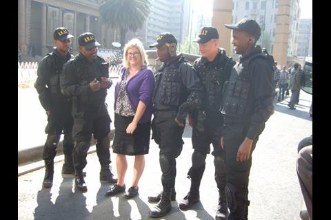 Screen's Wendy Mitchell with some SWAT guys.